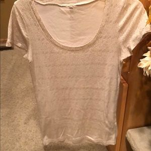 Jcrew gold flecked tee - size M